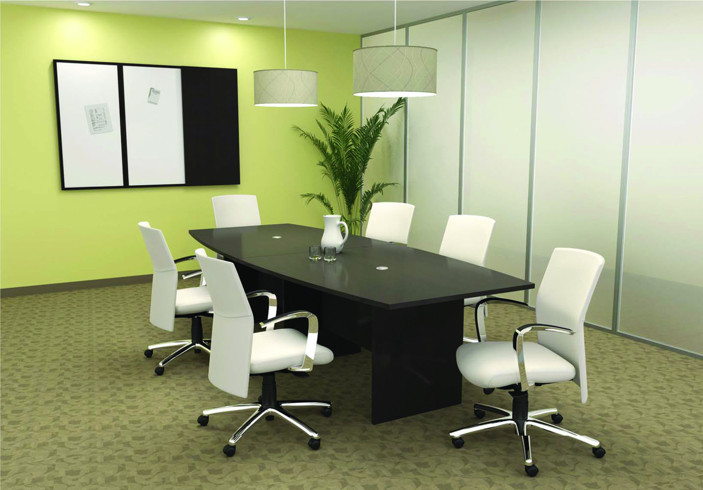 Boardroom table and chairs collaboration spaces office furniture sets