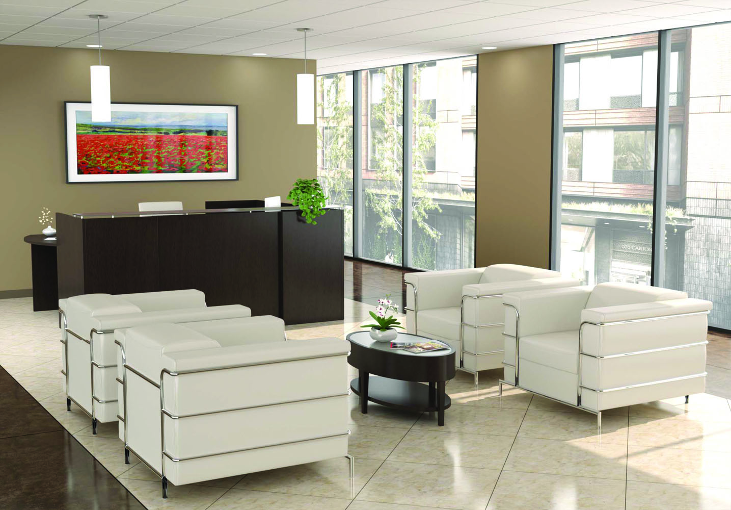 Office Lobby Design   First Impressions Office Furniture Sets Ideas