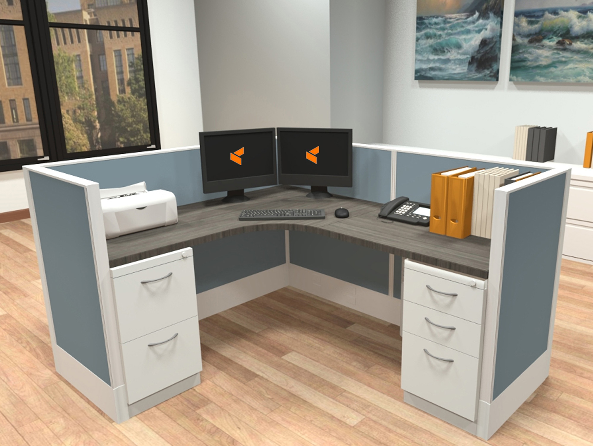 Modular Desk System - Divi AIS Furniture